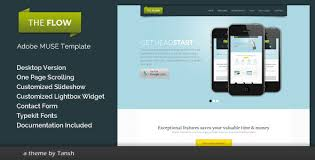 adobe muse mobile templates the flow one page muse template by tansh themeforest
