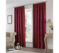 buy fusion eastbourne lined curtains 229x229cm burgundy at