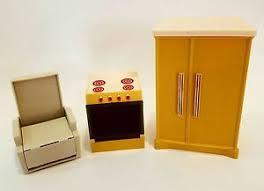 dolls house kitchen furniture vintage wolverine doll house kitchen furniture stove fridge pantry
