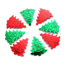 200pcs christmas tree confetti red green mixed decoration plastic