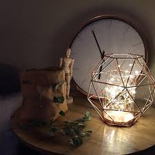 Outdoor Fairy Lights Australia by Fairy Light Filled Copper Geo Candle Our Urban Box Kmart Styling