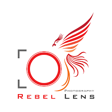 rebel lens photography logo icon and brand identity design