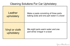Baking Soda Upholstery Cleaner How To Clean Up Dog Vomit In Your Car Yourmechanic Advice