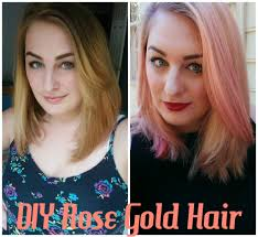 hair diy rose gold hair at home bellatory