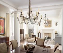 rectangular chandelier lighting dining room traditional with