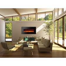 ignis royal 60 inch wall mount electric fireplace with crystals