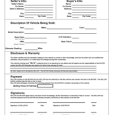 auto bill of sale form pdf and motor vehicle bill of sale form
