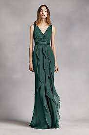 green dress forest green bridesmaid dresses david s bridal