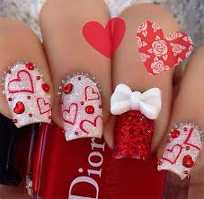 20 best valentine u0027s day acrylic nail art designs ideas trends
