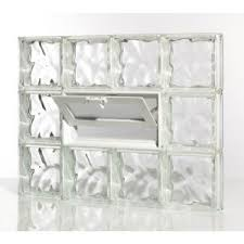 pittsburgh corning decora glass block basement window with vent