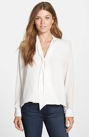 white tie neck blouse fall preview 2015 tie neck blouses grace