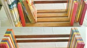 How To Make Invisible Bookshelf Make An Easy And Adjustable Table Top Book Rack Diy Home