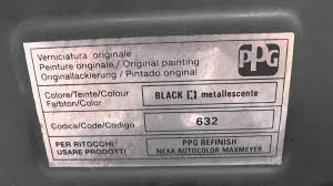 fiat paint code colour location guide youtube