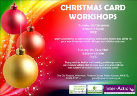 christmas card workshops interactionmk