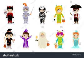 big collection cute little kids halloween stock vector 504551713