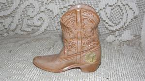 vintage cowboy boot l vintage frankoma with seal lt dk brown cowboy boot planter eyeglass
