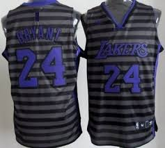 los angeles lakers 24 kobe bryant gray with black pinstripe