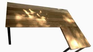 l desk corner desk reclaimed wood metal base