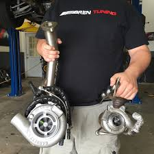 bmw n54 turbo replacement bimmerboost oem bmw 335i n54 turbo vs garrett gt30r size comparison