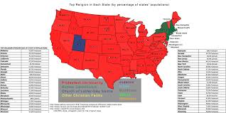 Maps Usa Map Virginia by Where The Protestants Roam Map Of Protestant Denominations In The