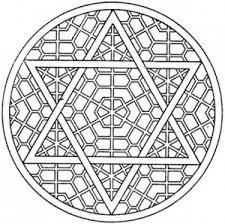 star of david mosaic coloring page grown ups like to color too