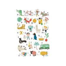 affiche chambre enfant achetez en ligne moins cher affiche alphabet 50x70 cm studio