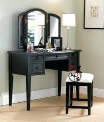 Folding Vanity Table Makeup Table With Mirror Style Solid Wood Vanity Retro