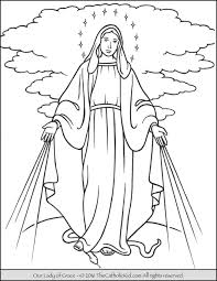 immaculate heart mary coloring coloring
