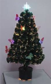 6ft pre lit christmas tree 6ft pre lit fibre optic christmas tree with butterfly led lights by