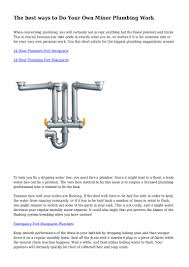 how does plumbing work how does plumbing work in grammar tree diagram