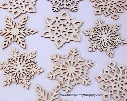 wooden snowflake etsy