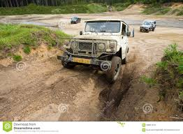 muddy jeep four wheel drive on muddy track editorial stock image image