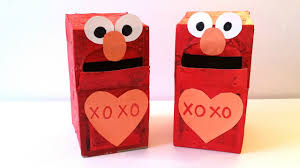 elmo valentines how to make an elmo mailbox