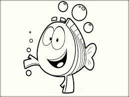 cute bubble guppies coloring pages for preschoolers color zini