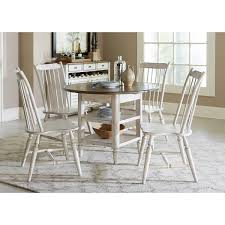 Drop Leaf Table And Chairs 5 Piece Drop Leaf Table Set By Liberty Furniture Wolf And