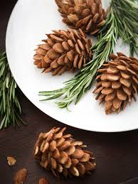 diy edible almond pinecones for the etsy blog sprinkle bakes