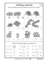 free printable 1st grade math worksheets word lists and