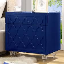 navy blue nightstand wayfair