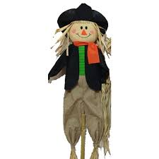 scarecrow halloween costume home accents holiday 72 in scarecrow stake assorted x30 hxrk038c