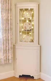 beautiful painted shabby chic pine corner unit storage shelves