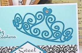 custom sweet 16 quinceanera handmade birthday card tiara card
