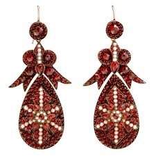 garnet earrings spectacular antique bohemian garnet earrings for sale at 1stdibs