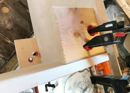 Cabinet Joint Mitered Edge Wood Joint With Homemade 90 Degree Clamps Sawdust