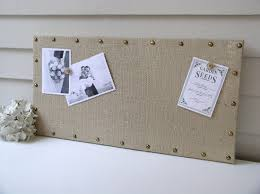 Magnetic Bulletin Board Organizer Burlap Memo Board Magnetic Bulletin Board 12 X