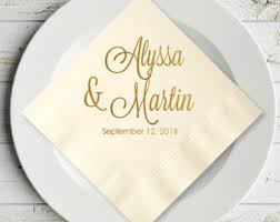 personalized wedding napkins 100 pcs we do forever and always personalized wedding napkins