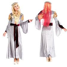 women renaissance medieval gothic long dress halloween costumes