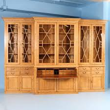 Break Front Bookcase Large Antique English Pine Breakfront Bookcase Circa 1890 At 1stdibs