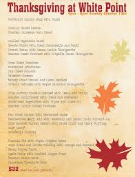 giving thanks a la dinner buffet brunch menu and more