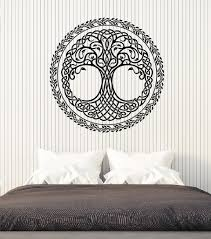 wall stickers murals vinyl wall decal tree of knot pattern leaves