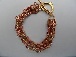 copper link bracelet images Byzantine link bracelet and brass copper rings with heart clasp jpg